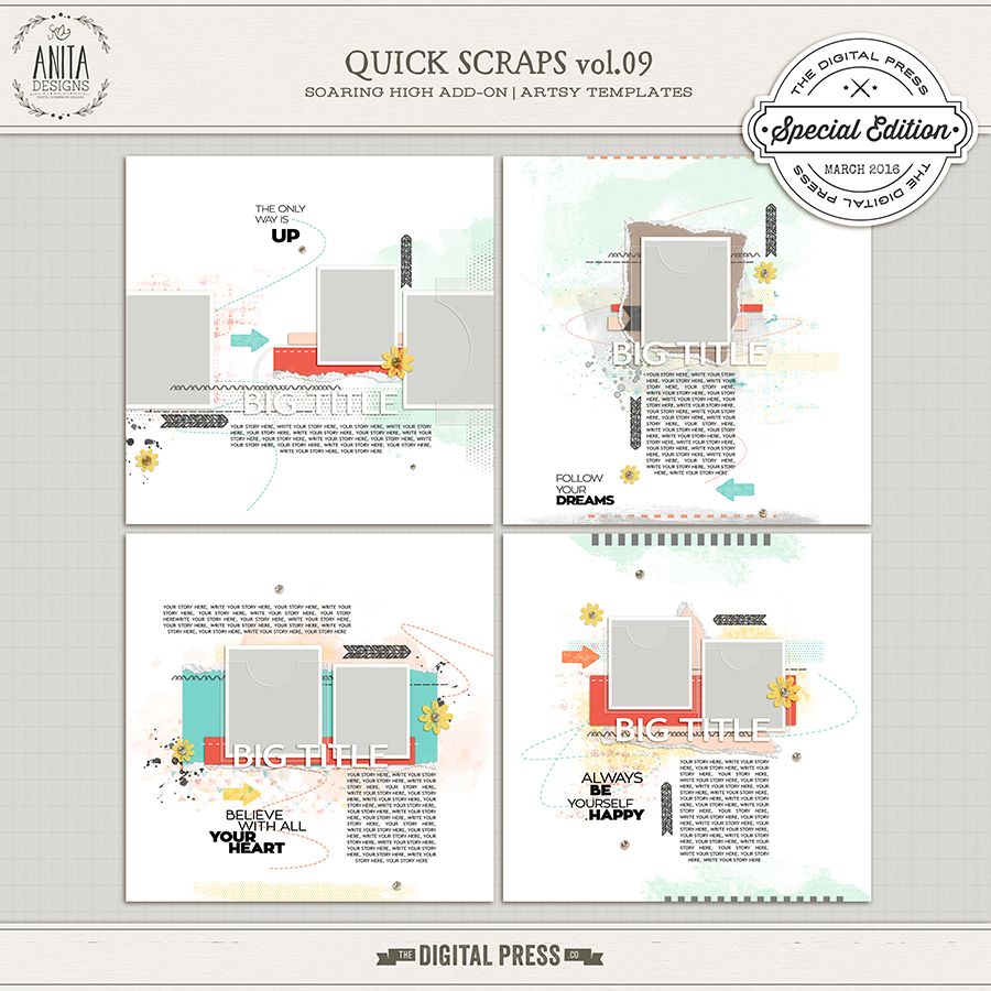 Quick scraps vol.09 |Soaring high add-on
