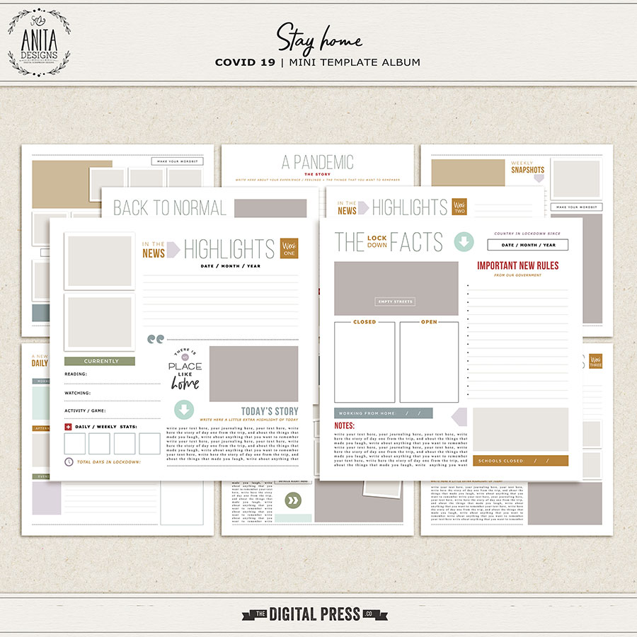 Stay Home | Template Album