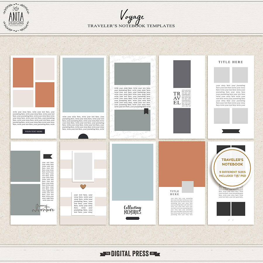 Voyage | Traveler's Notebook Templates