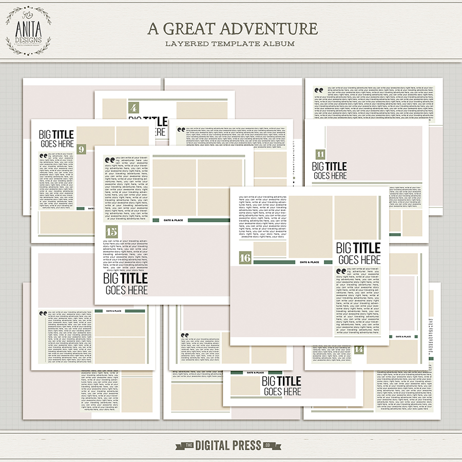 A Great Adventure | Template Album