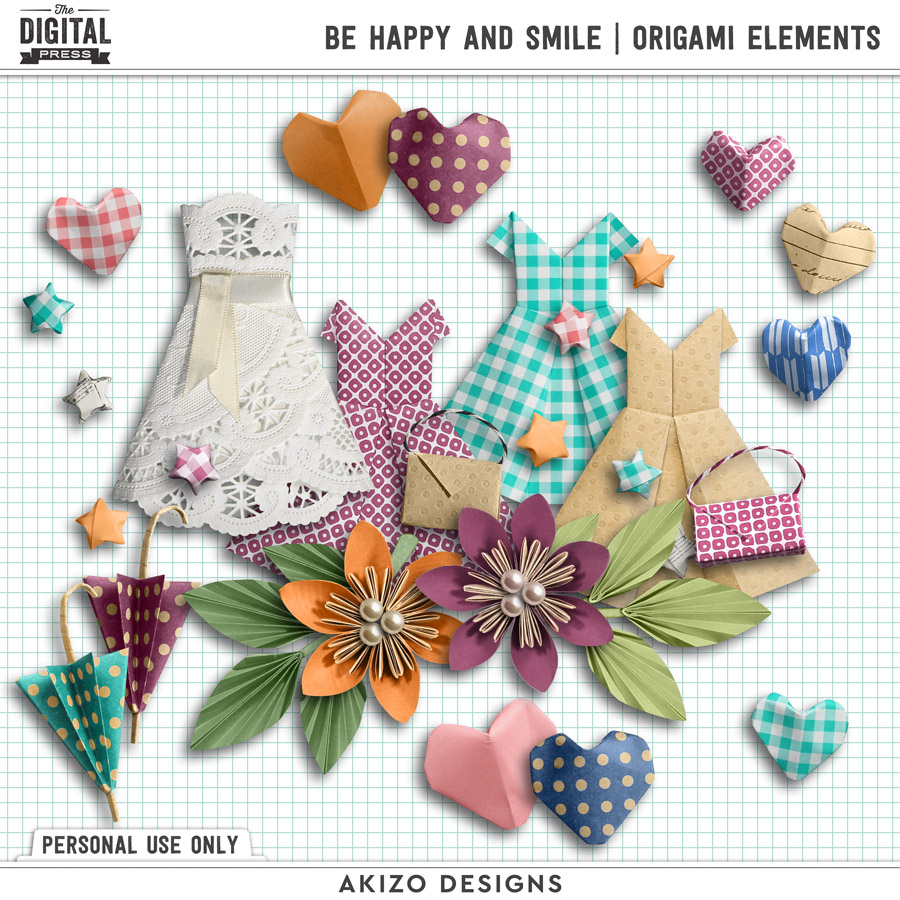 Be Happy And Smile | Origami Elements