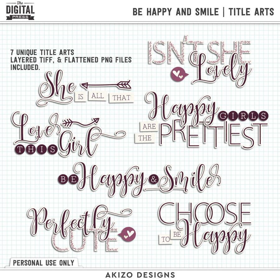 Be Happy And Smile | Title Arts