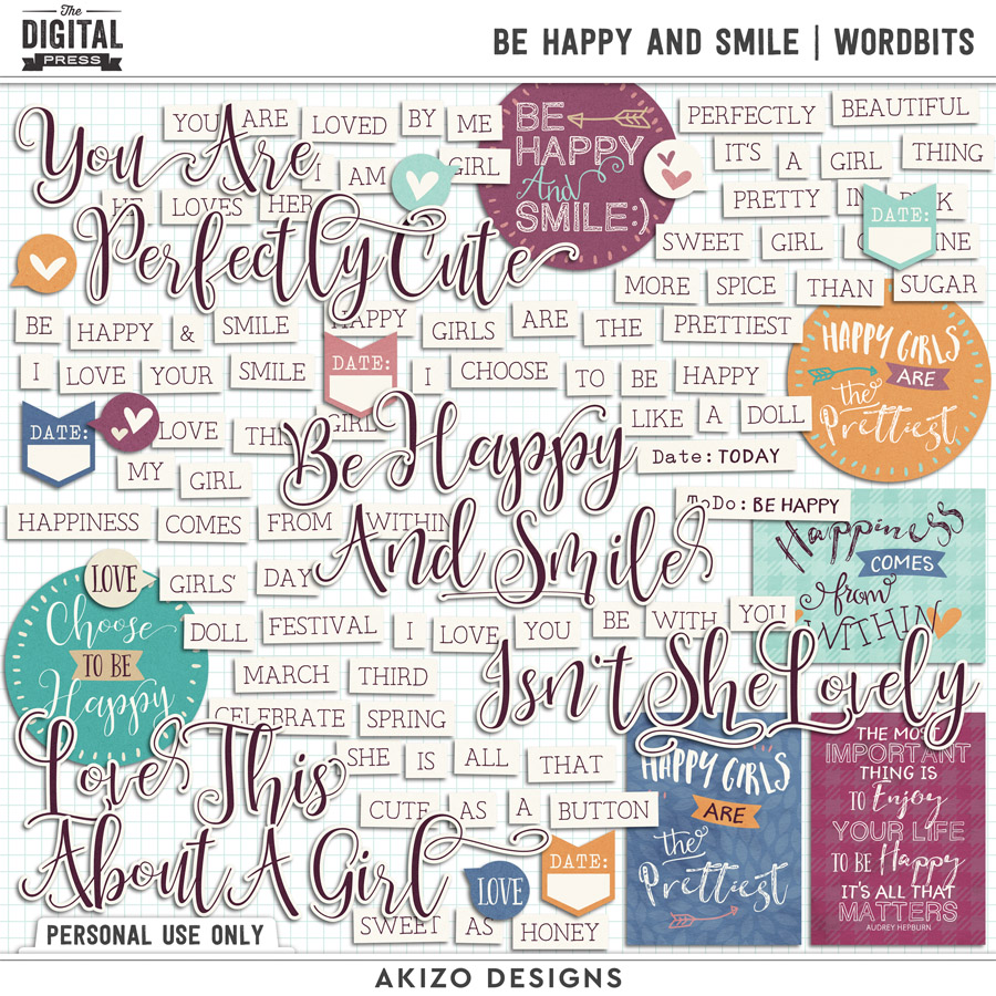 Be Happy And Smile | Wordbits