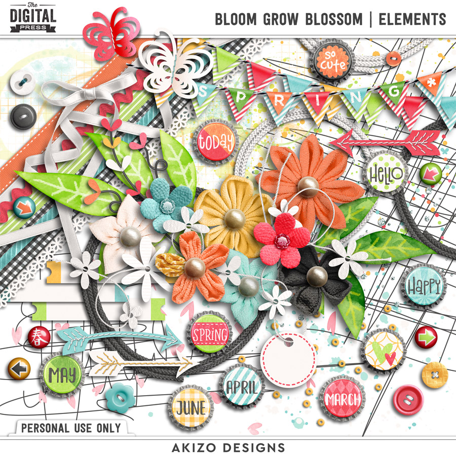 Bloom Grow Blossom   Elements