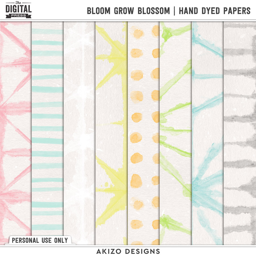 Bloom Grow Blossom | Hand Dyed Papers