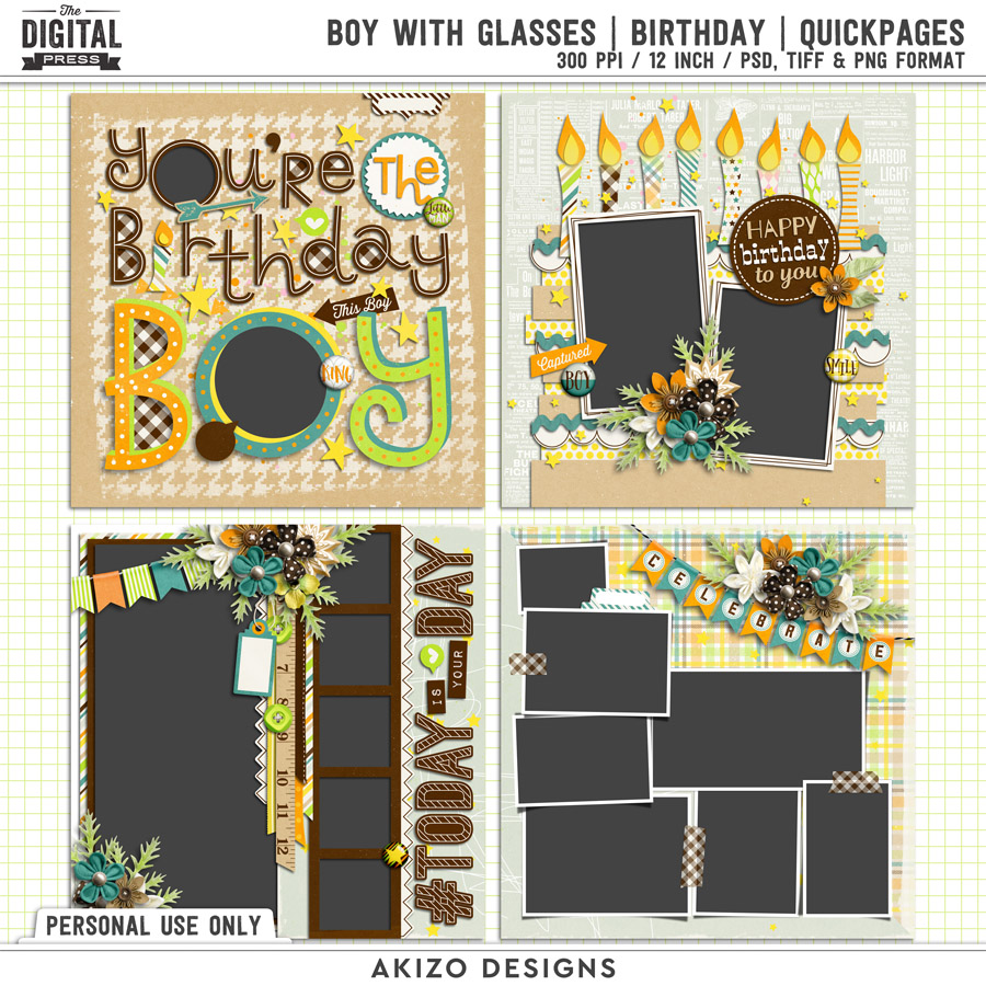 Boy With Glasses | Birthday | Quickpages