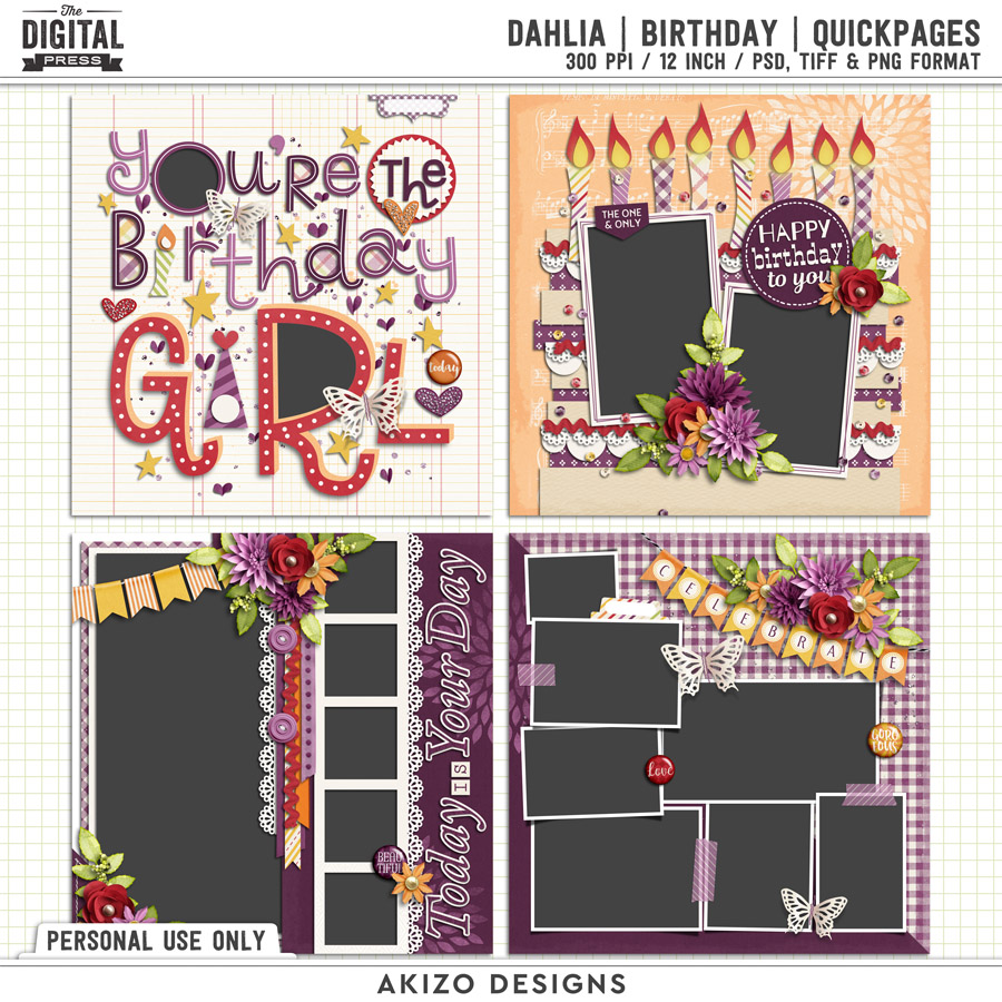 Dahlia | Birthday | Quickpages