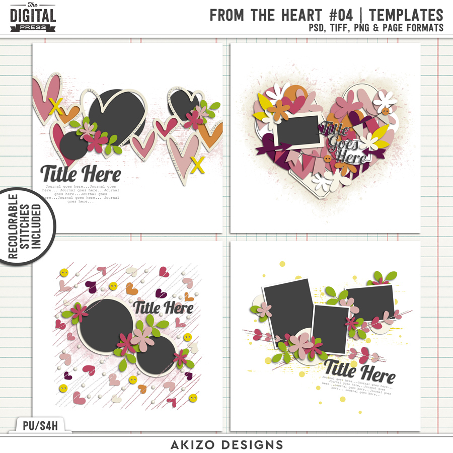 From The Heart 04   Templates