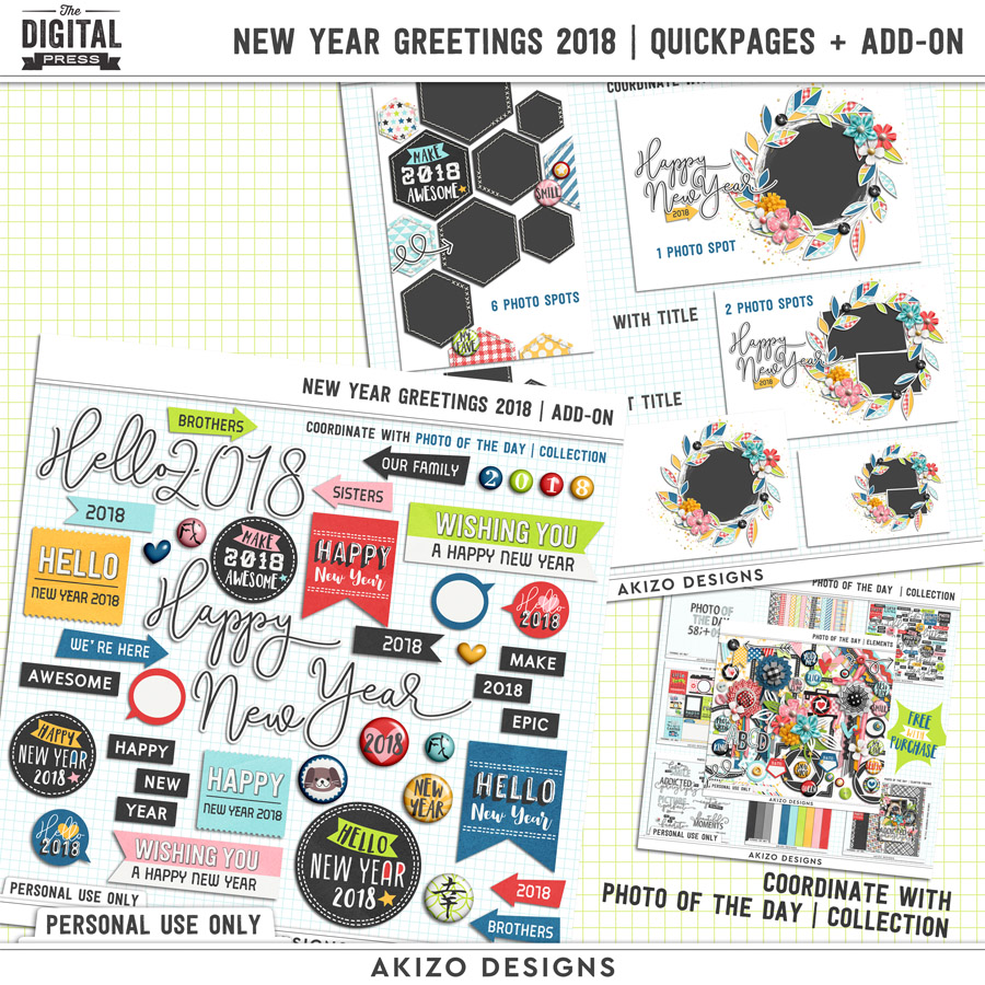 New Year Greetings 2018 | Quickpages + Add-on