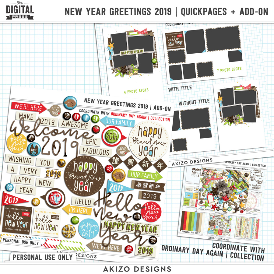 New Year Greetings 2019   Quickpages + Add-on