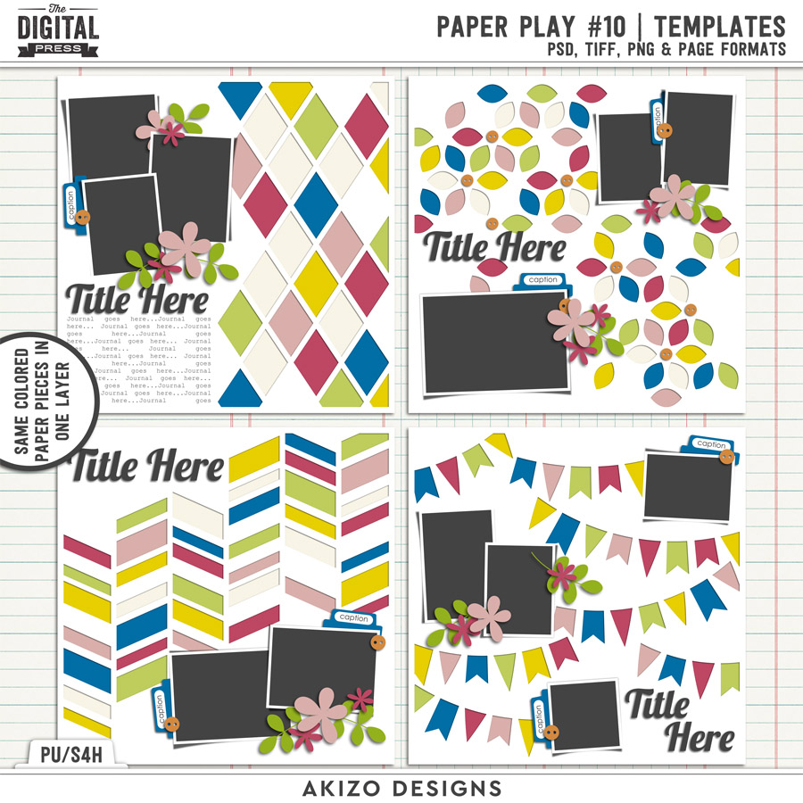 Paper Play 10   Templates