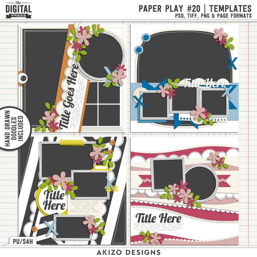 Paper Play 20 | Templates