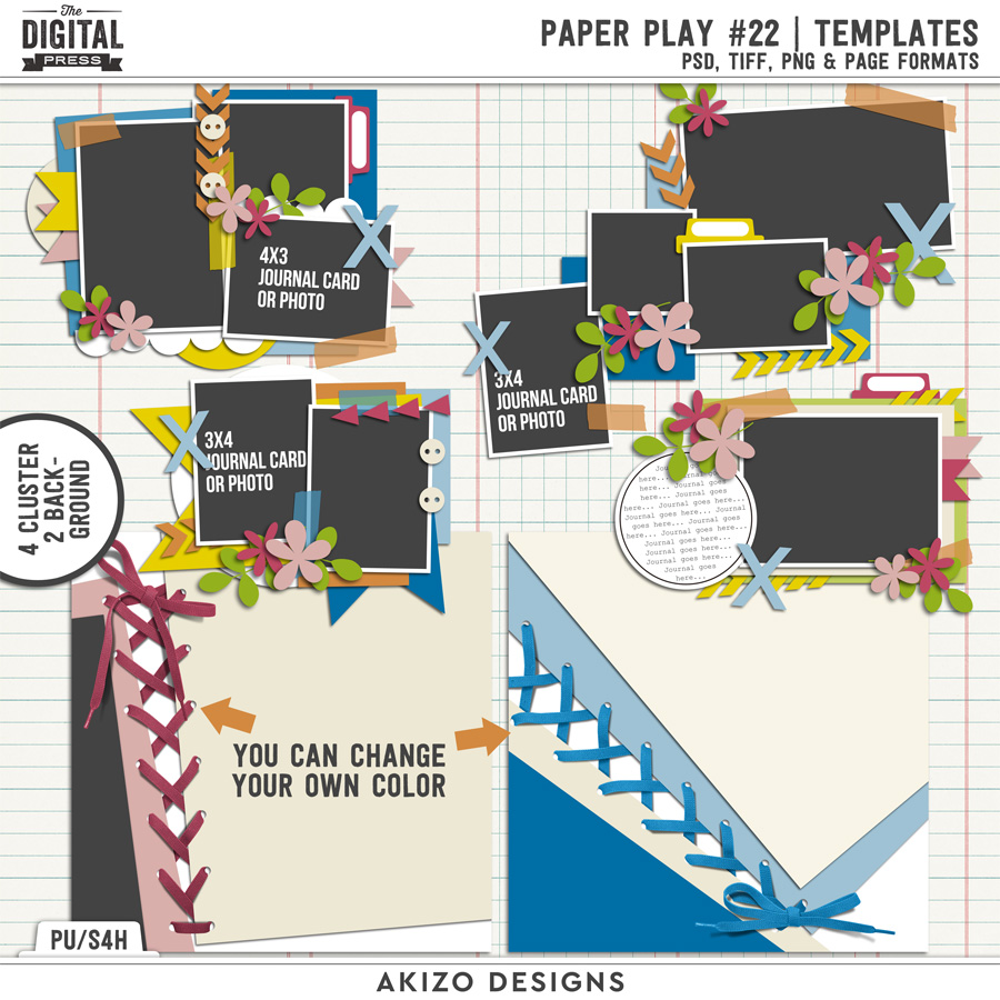 Paper Play 22 | Templates