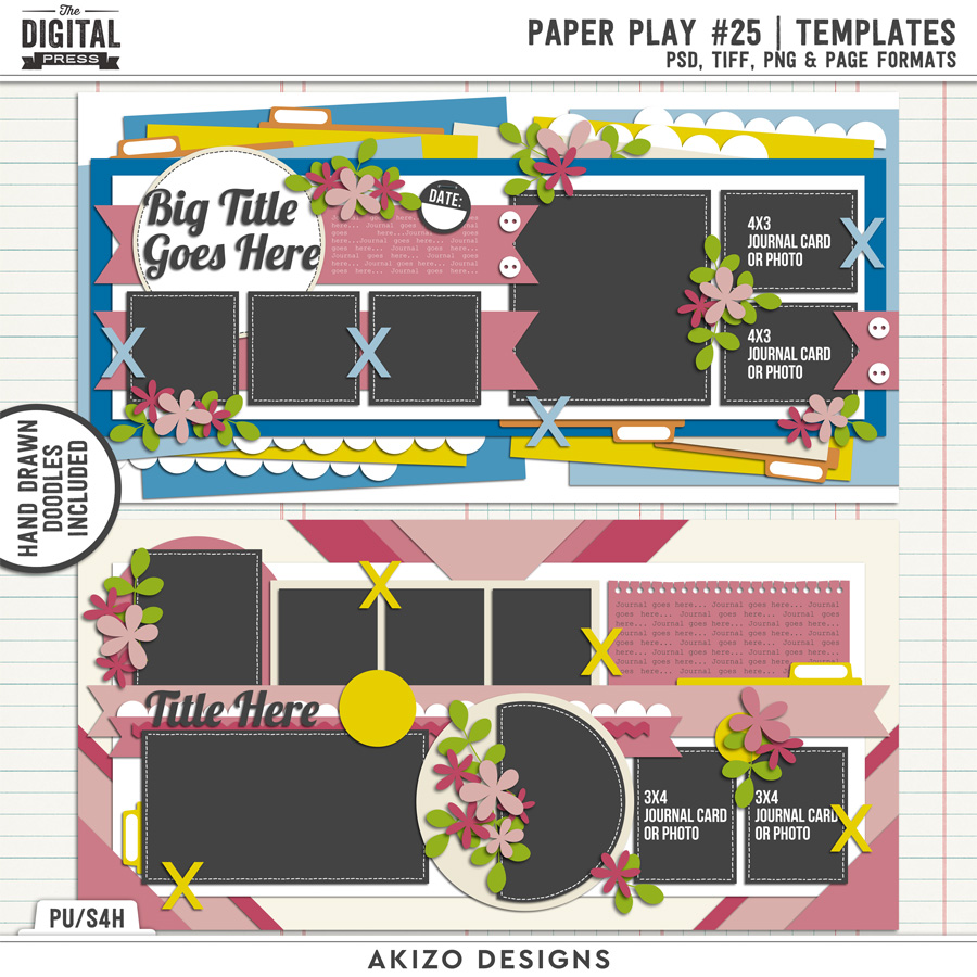 Paper Play 25   Templates