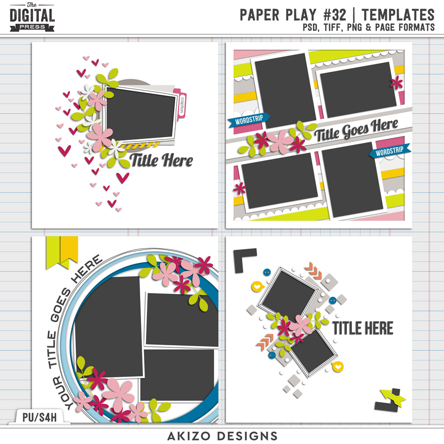 Paper Play 32   Templates