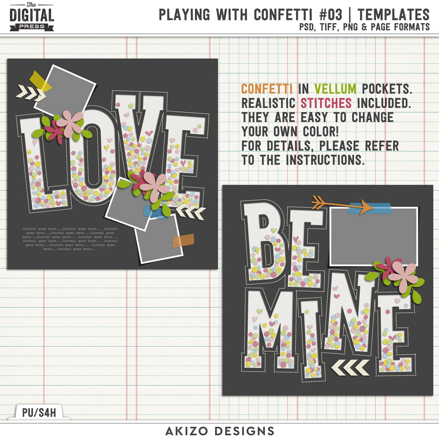 Playing With Confetti 03 | Templates