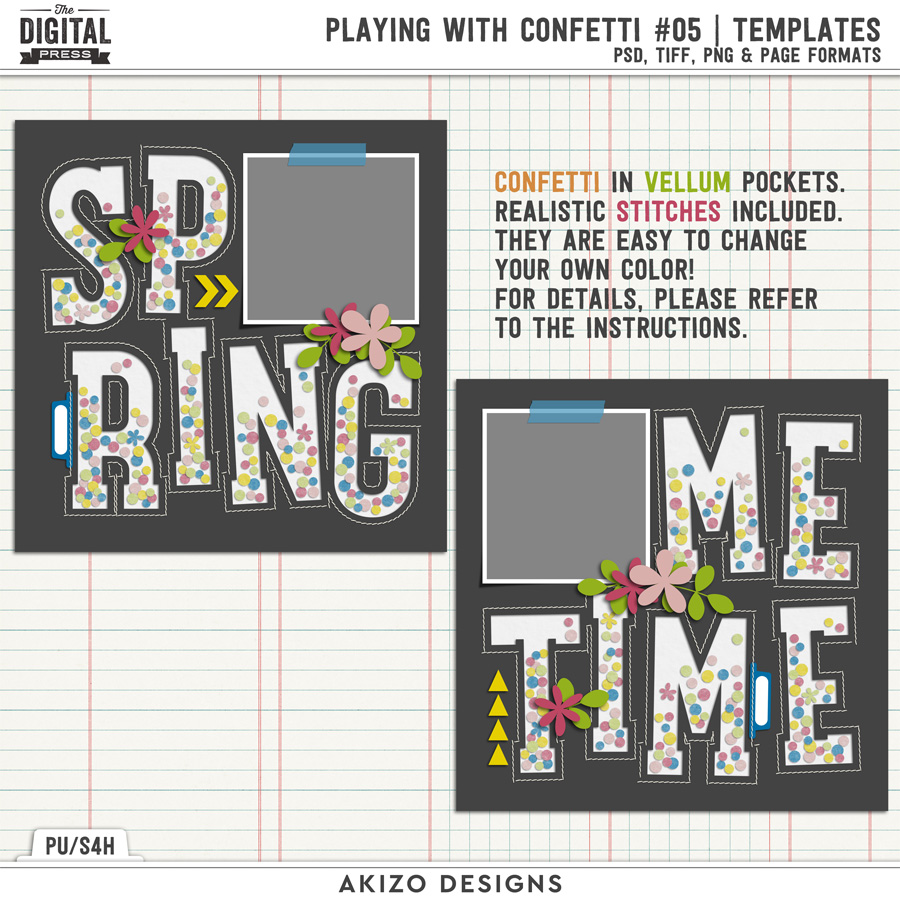 Playing With Confetti 05 | Templates