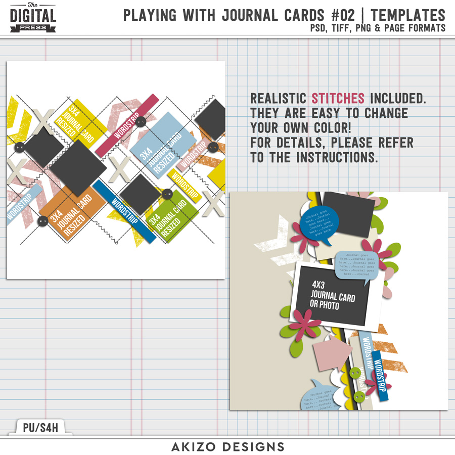 Playing With Journal Cards 02 | Templates