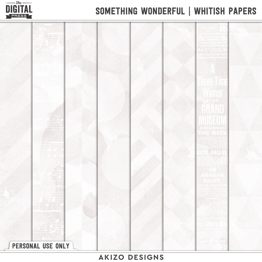 Something Wonderful | Whitish Papers