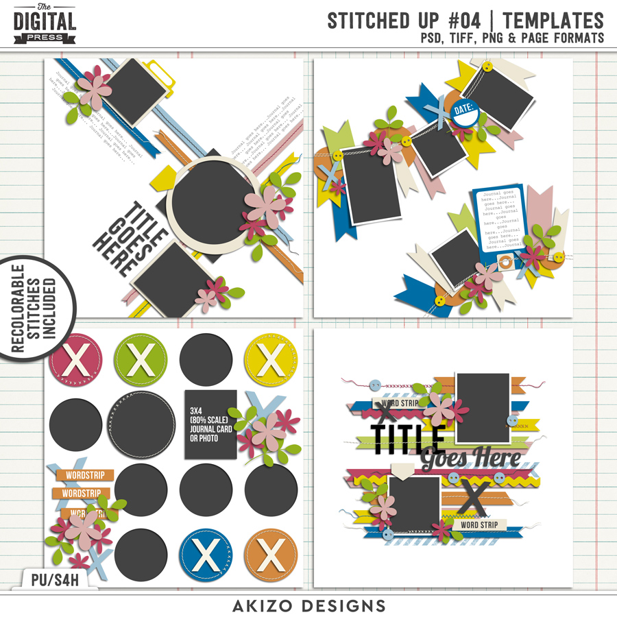Stitched Up 04 | Templates