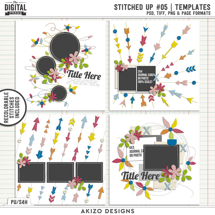 Stitched Up 05 | Templates