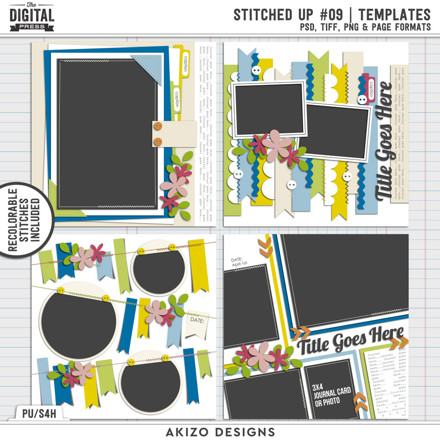 Stitched Up 09 | Templates