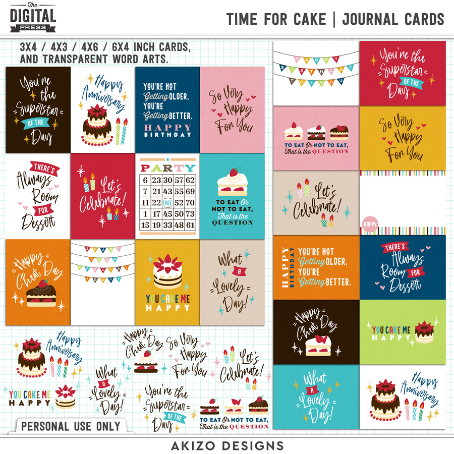 Time For Cake | Journal Cards