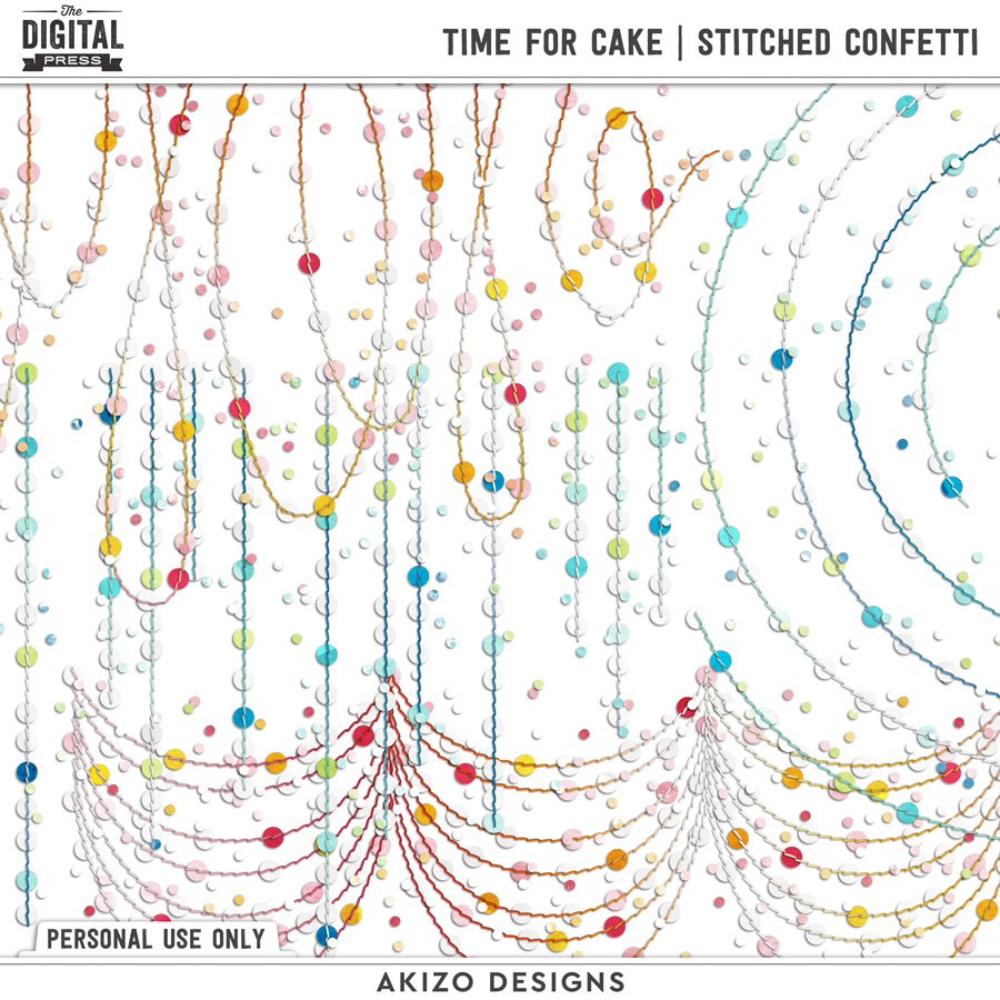 Time For Cake | Stitched Confetti