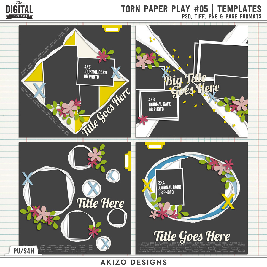Torn Paper Play 05 | Templates