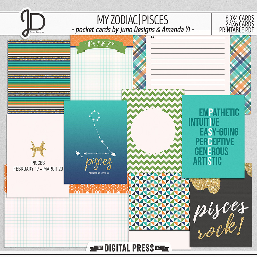 My Zodiac | Pisces - Pocket Cards