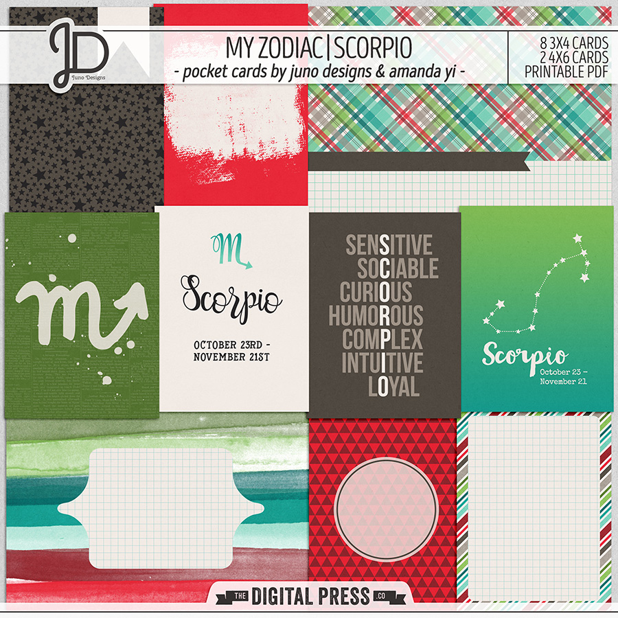 My Zodiac | Scorpio - Pocket Cards