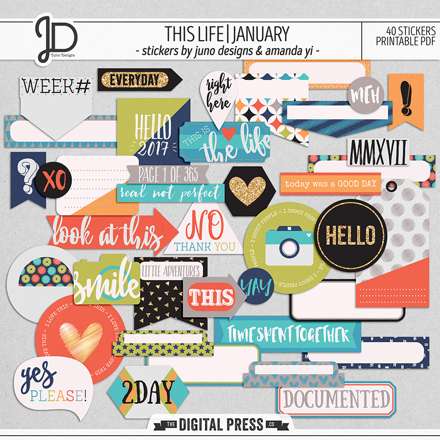 This Life | January - Stickers