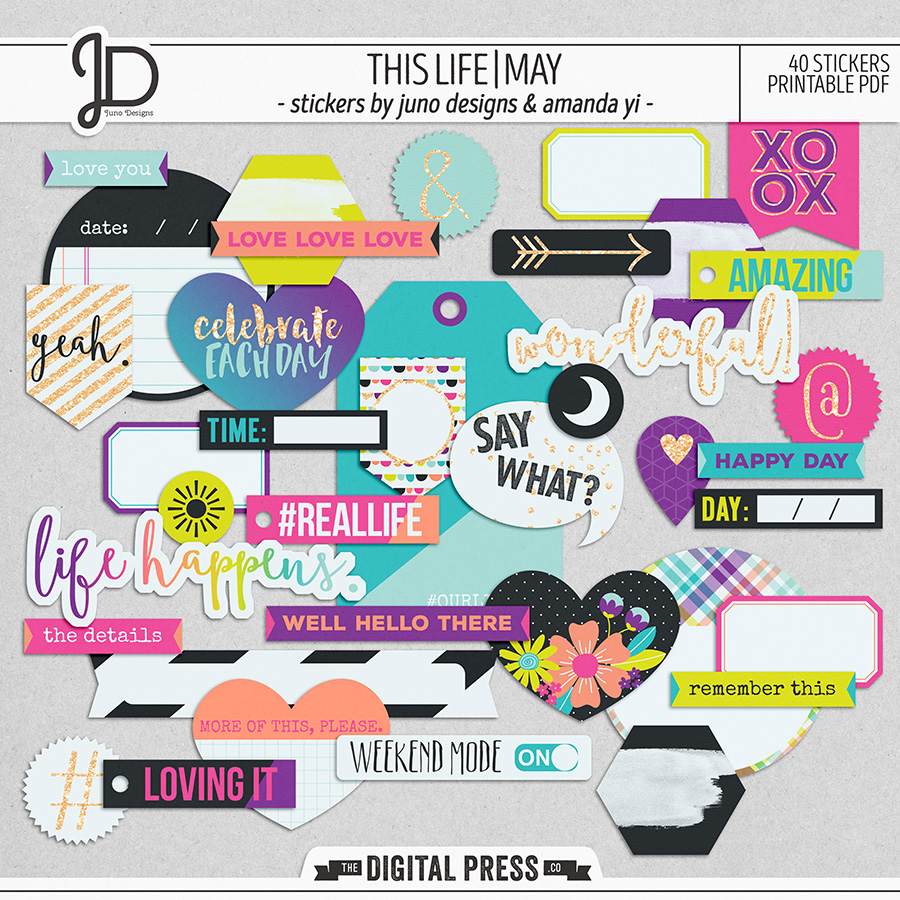 This Life | May - Stickers