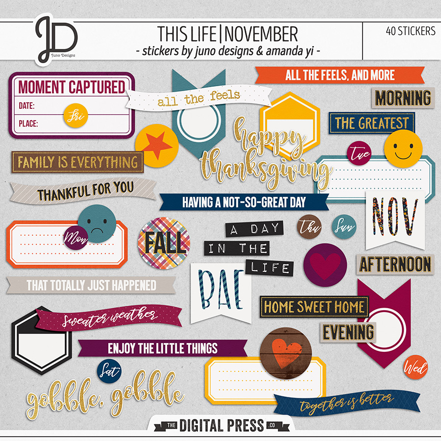This Life   November - Stickers
