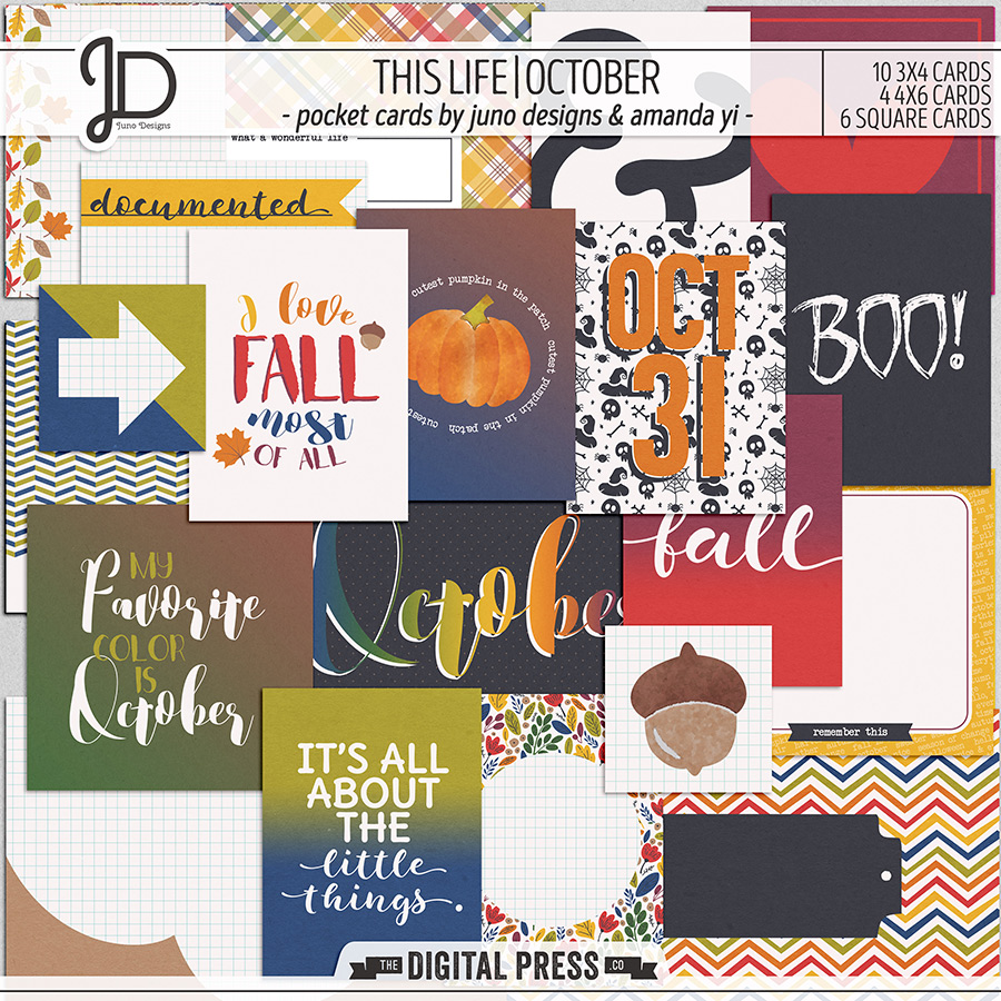 This Life | October - Pocket Cards