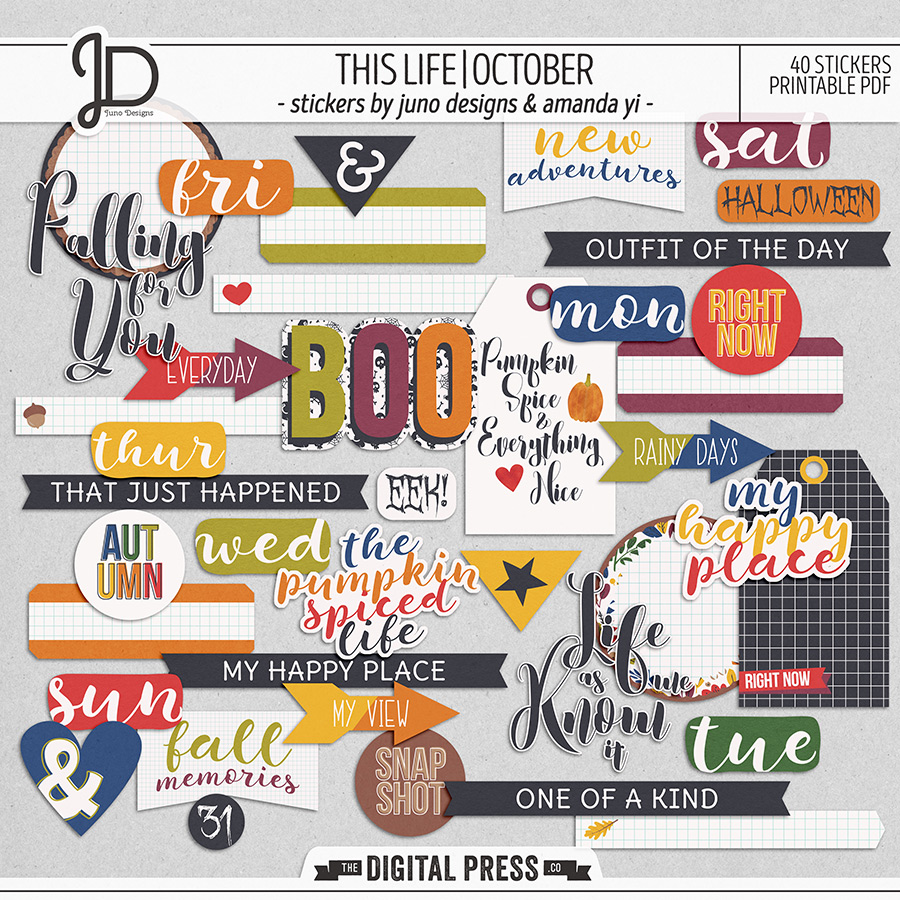This Life   October - Stickers