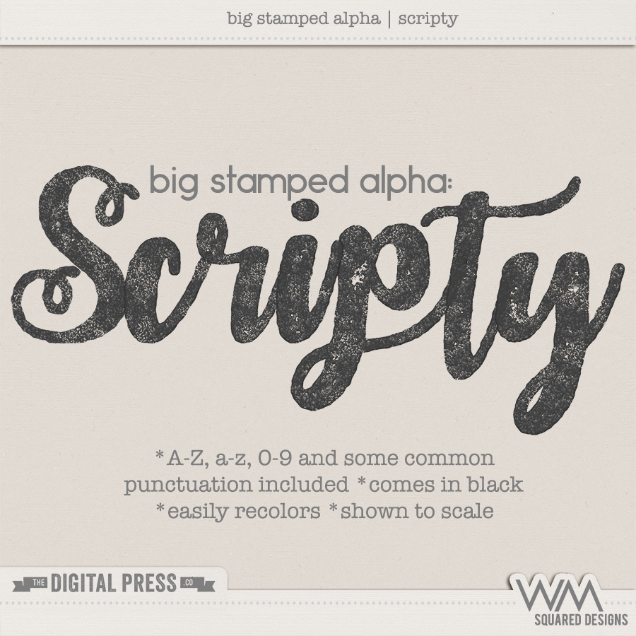 Big Stamped Alpha | Scripty