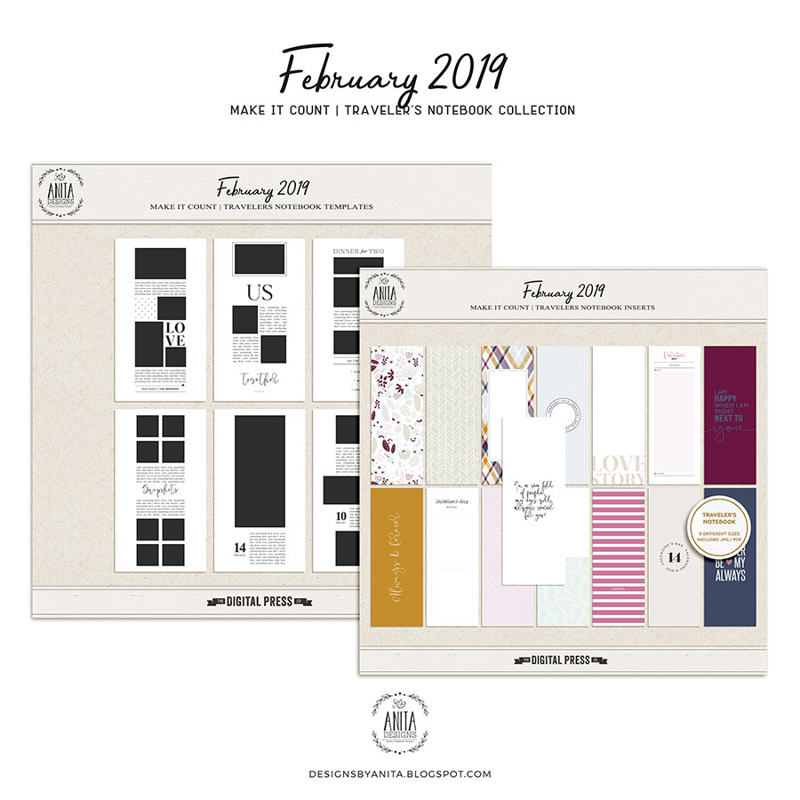 Make it count: February 2019 | travelers notebook collection