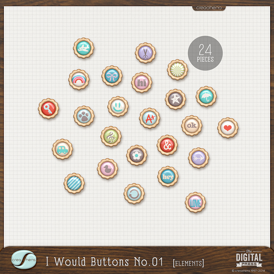 I Would Buttons No. 01