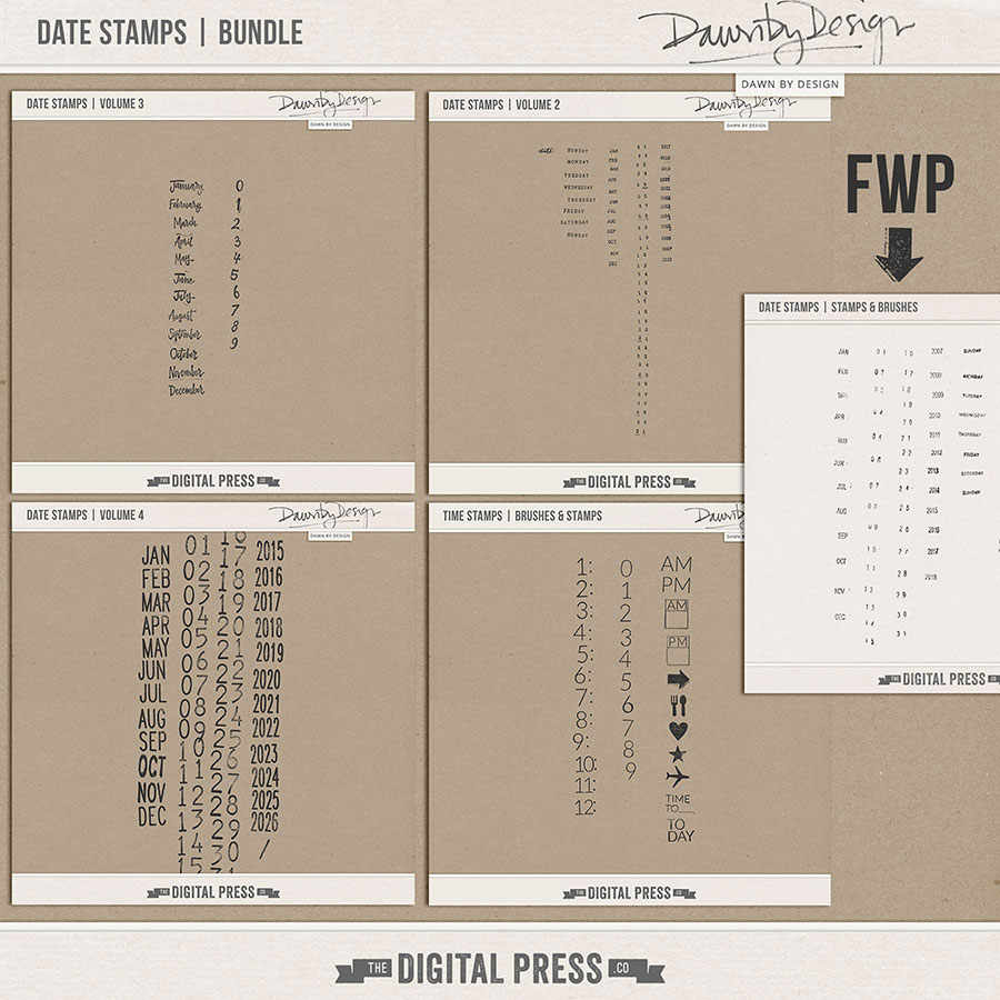 Date Stamps | Bundle + FWP