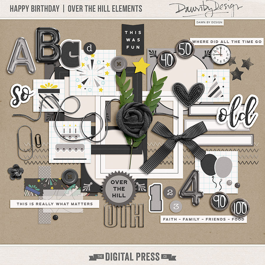 Happy Birthday | Over The Hill Elements