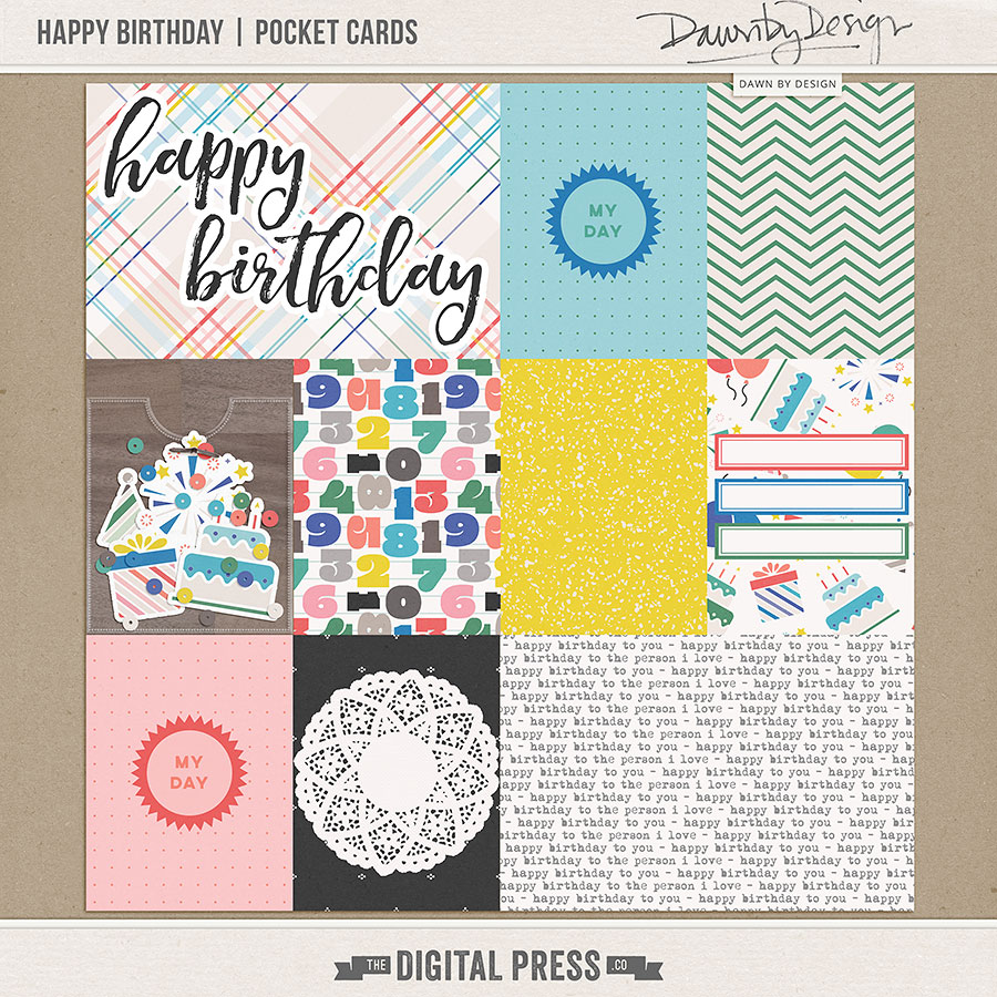 Happy Birthday | Pocket Cards