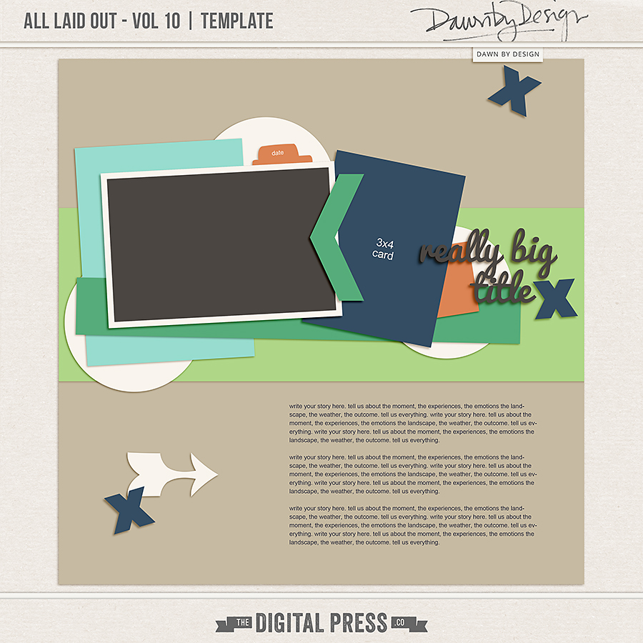 All Laid Out - Vol 10 | Template
