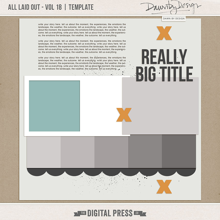 All Laid Out - Vol 18   Template