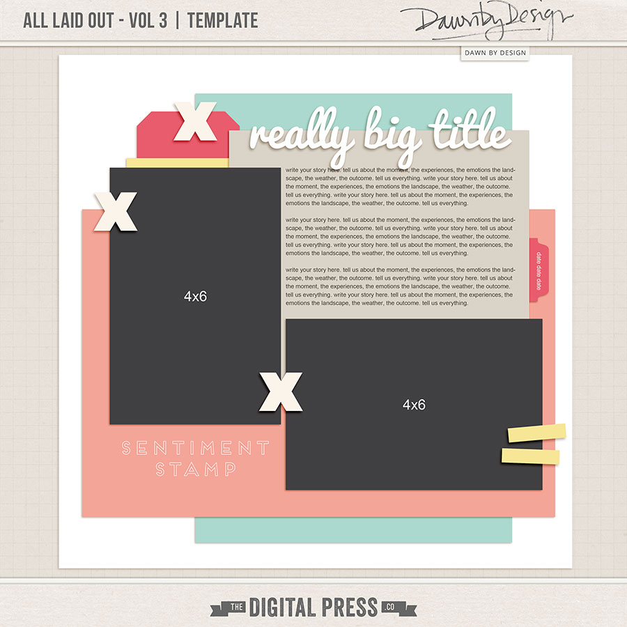 All Laid Out - Vol 3   Template