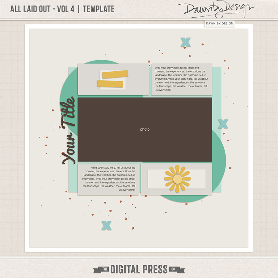 All Laid Out - Vol 4   Template