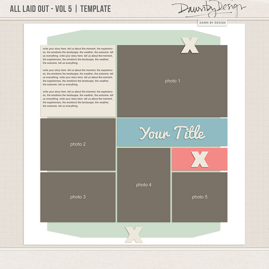 All Laid Out - Vol 5 | Template
