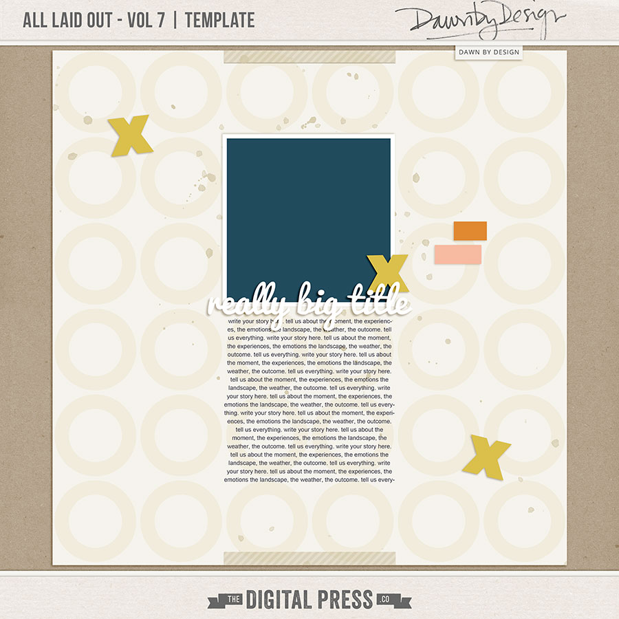 All Laid Out - Vol 7   Template