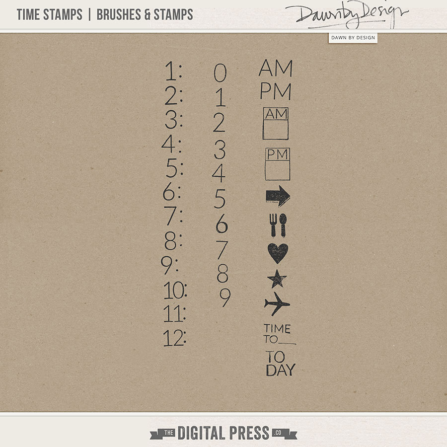 Time Stamps | Stamps & Brushes