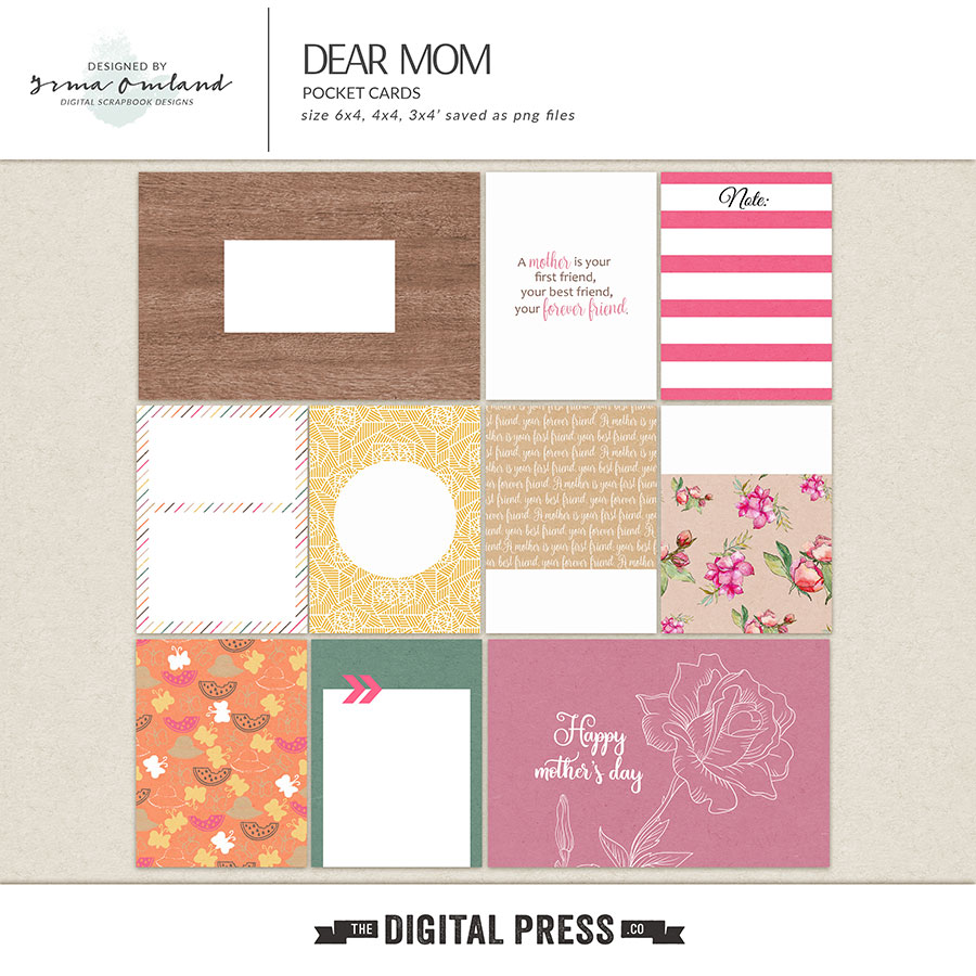 Dear Mom - Journaling Cards